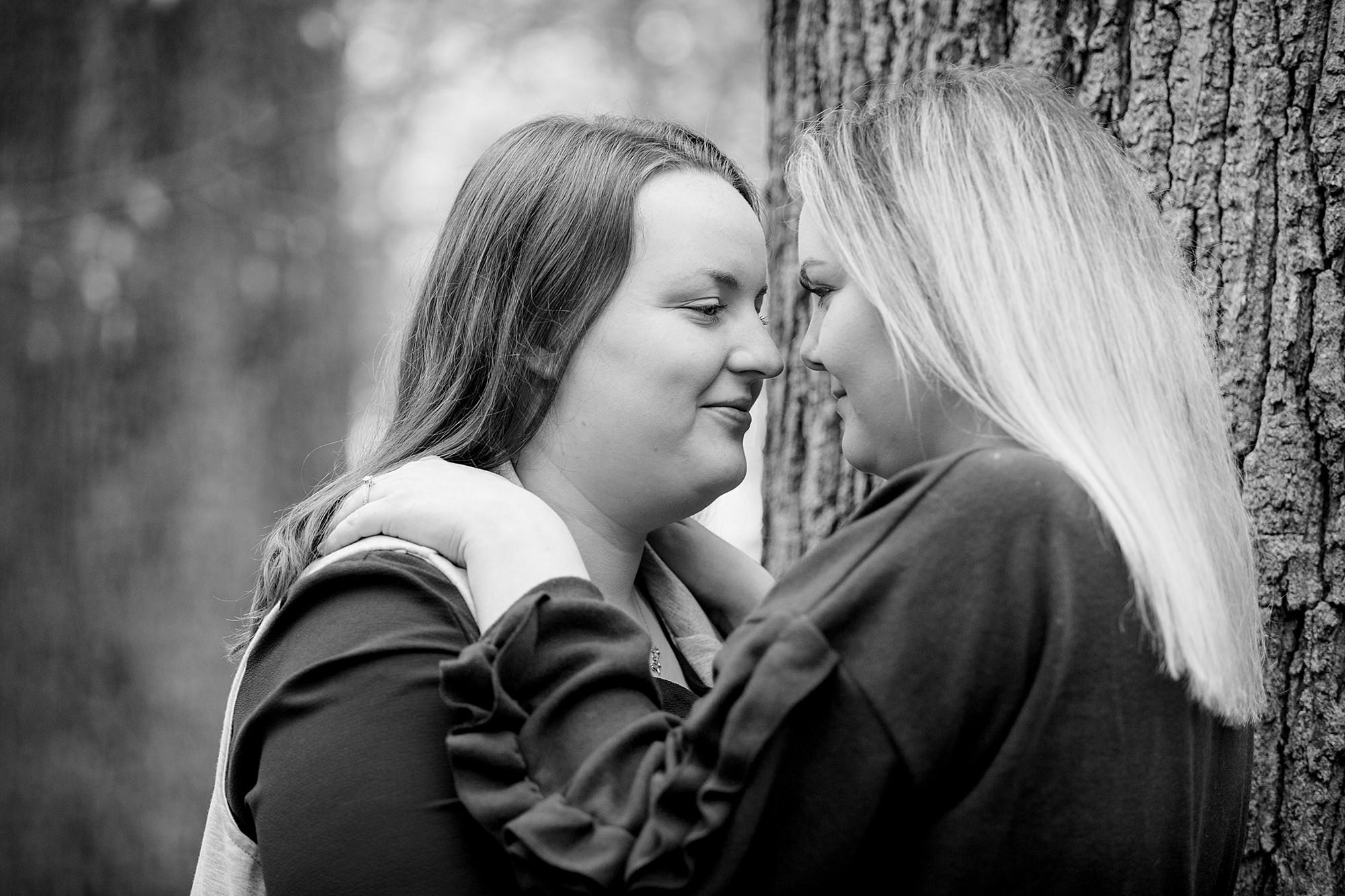 Ashridge park engagement shoot two brides together