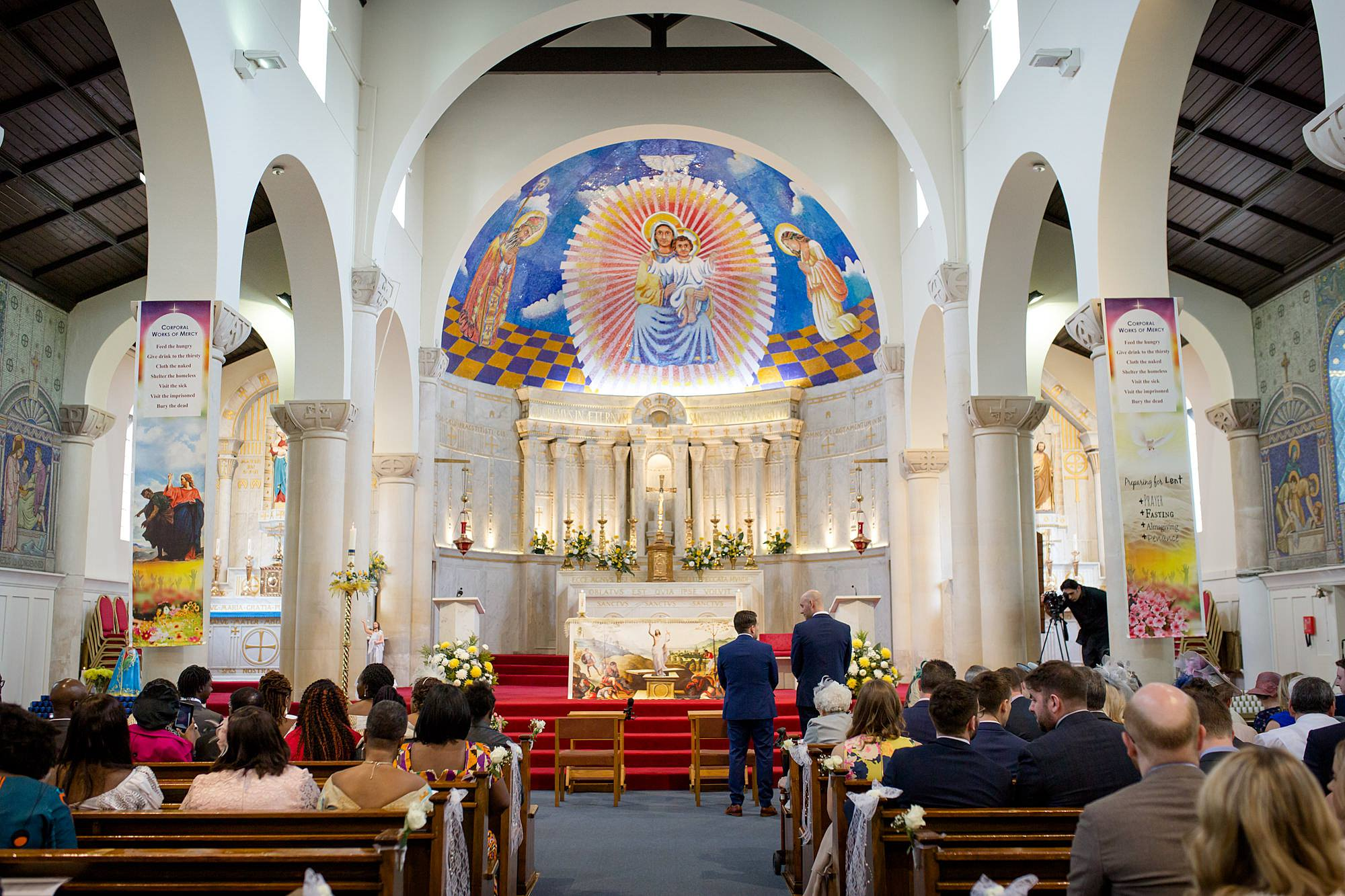 Bank of England Sports Centre wedding church interior