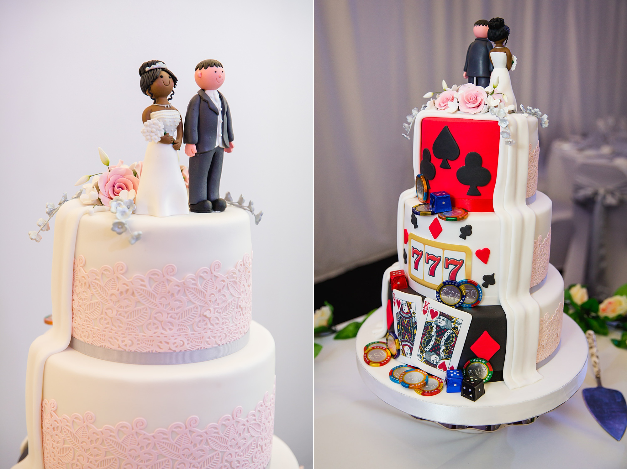 Bank of England Sports Centre wedding double sided cake