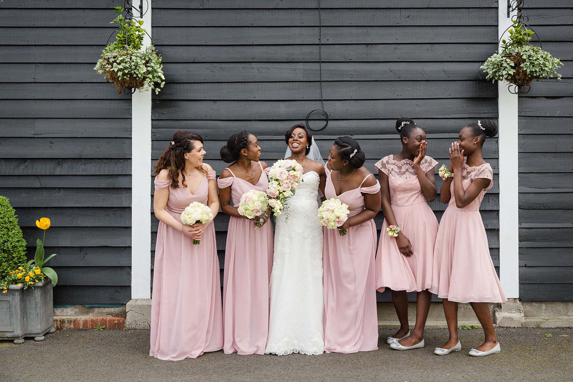 Bank of England Sports Centre wedding bride and bridesmaids