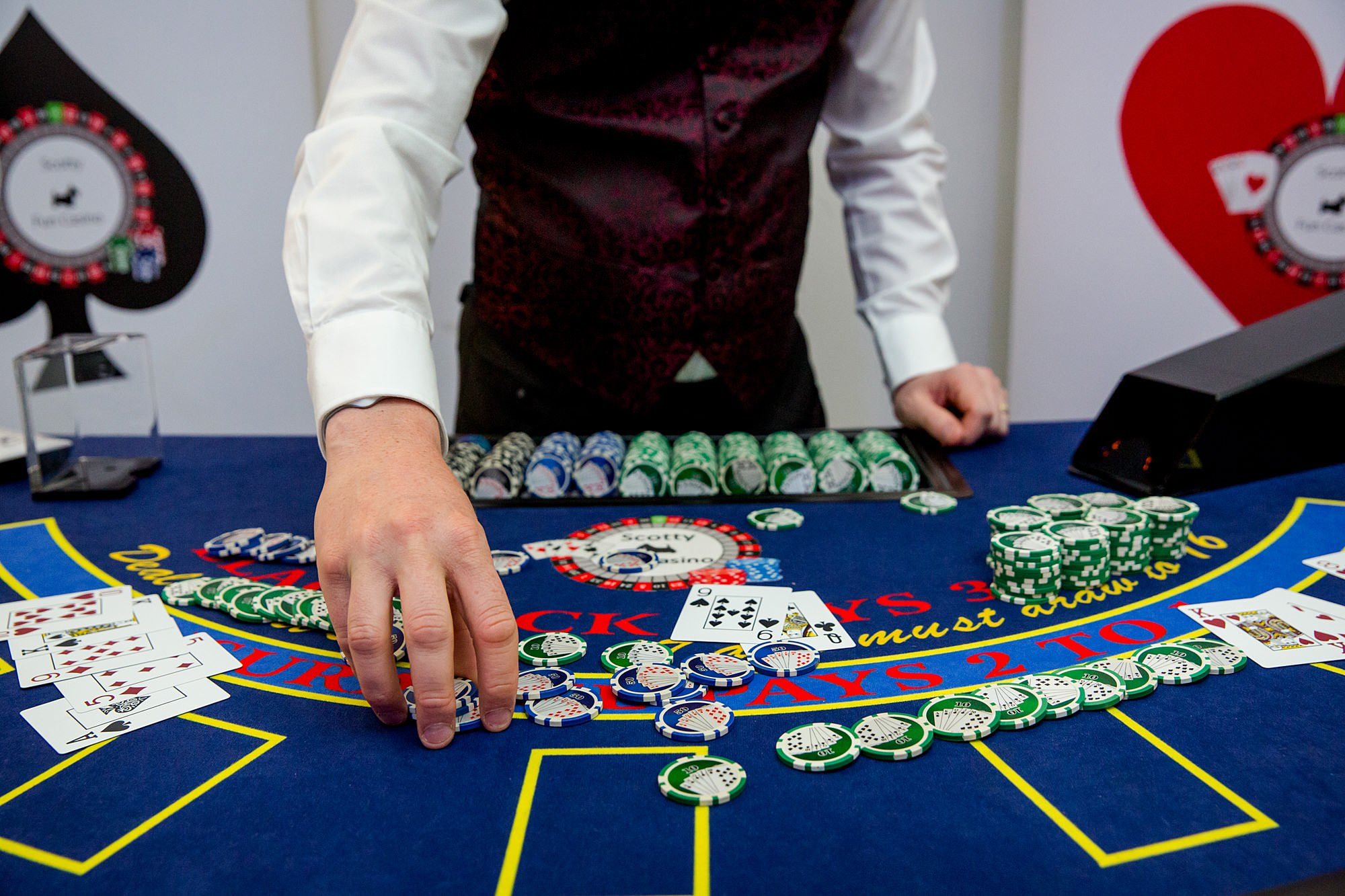 Bank of England Sports Centre wedding casino dealer
