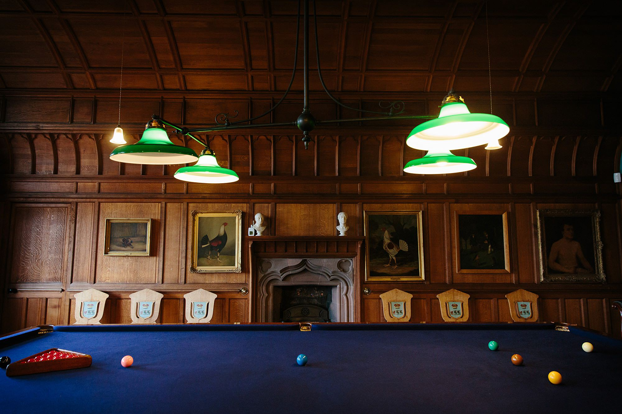 intimate wedding scotland billiards table