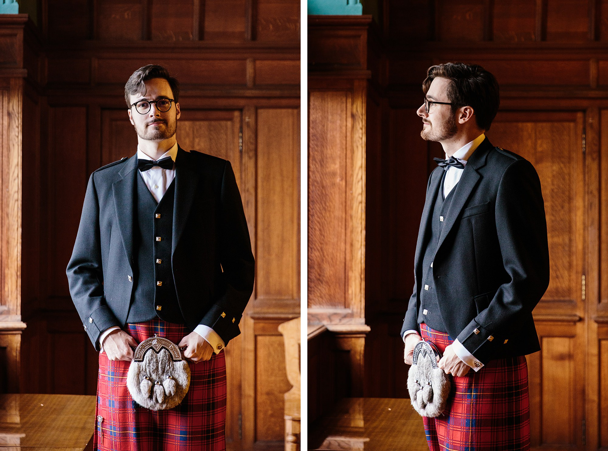 intimate wedding scotland portrait of groom