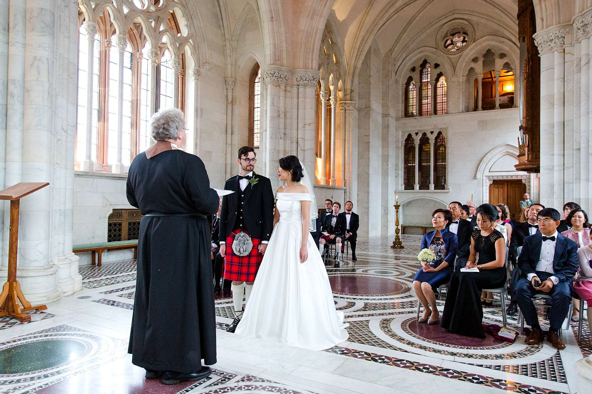 intimate wedding scotland ceremony in mount stuart marble chapel