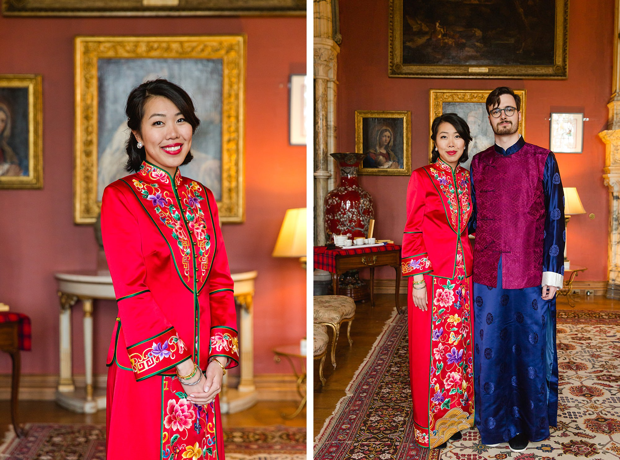 intimate wedding scotland bride and from in traditional chinese clothes