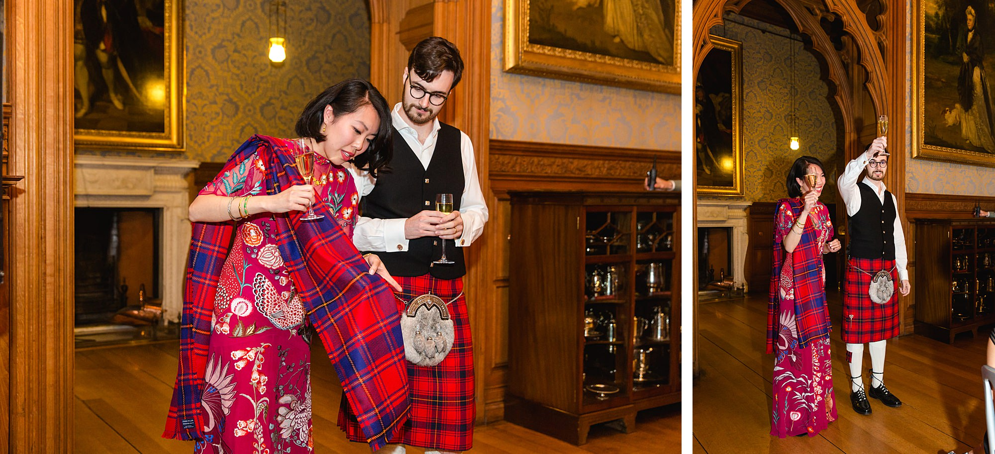 intimate wedding scotland bride and groom give speech