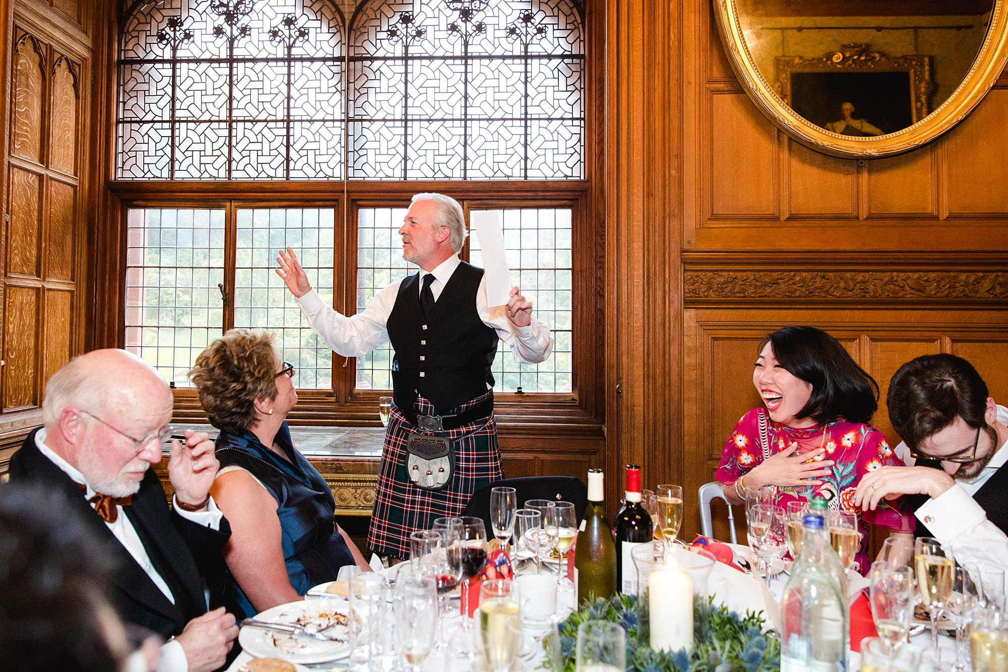 intimate wedding scotland fun father of groom speech