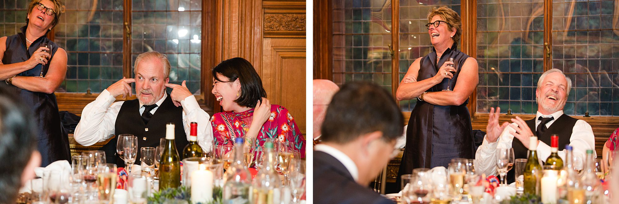 intimate wedding scotland laughing guests