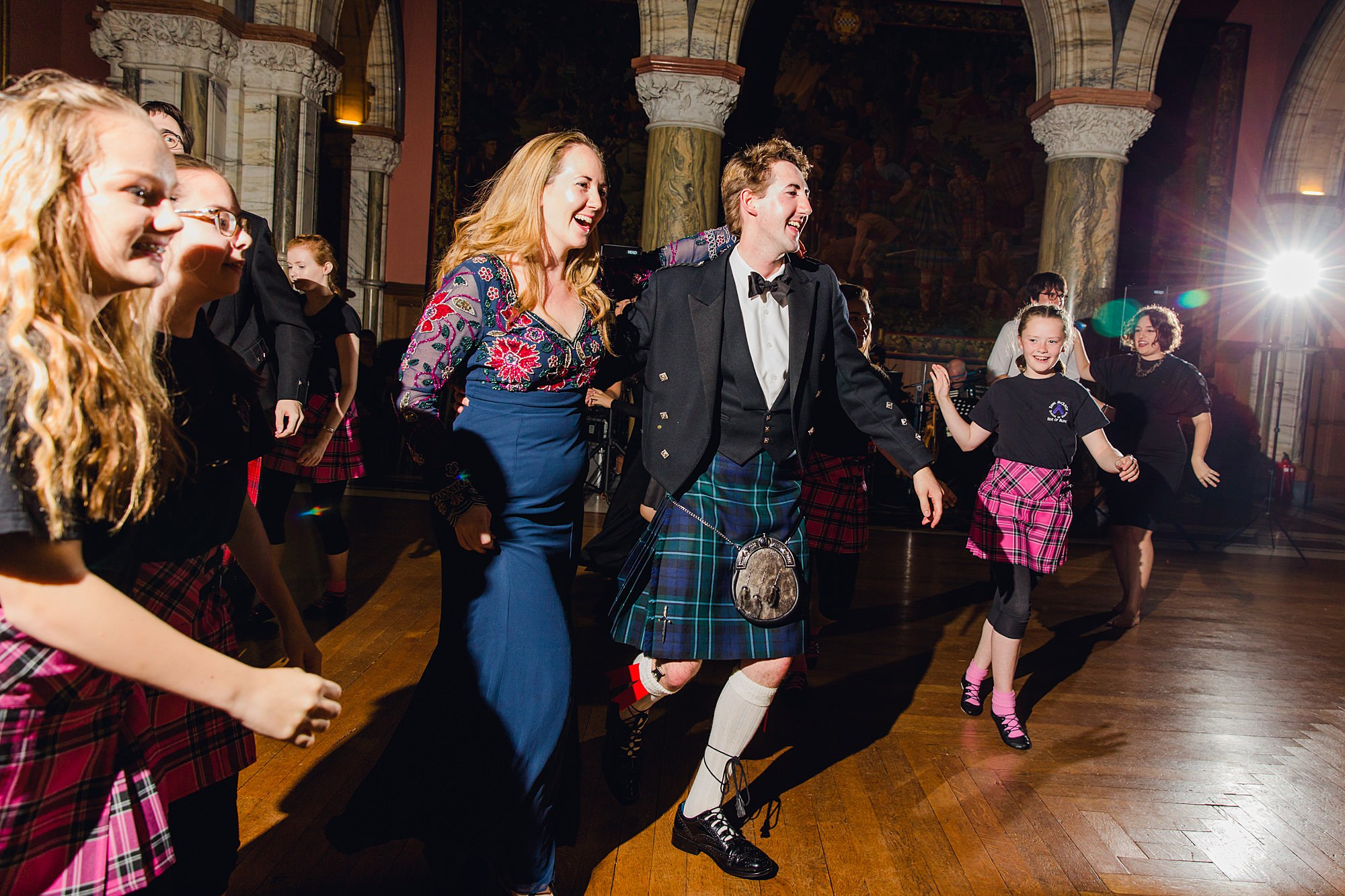 intimate wedding scotland guests dancing