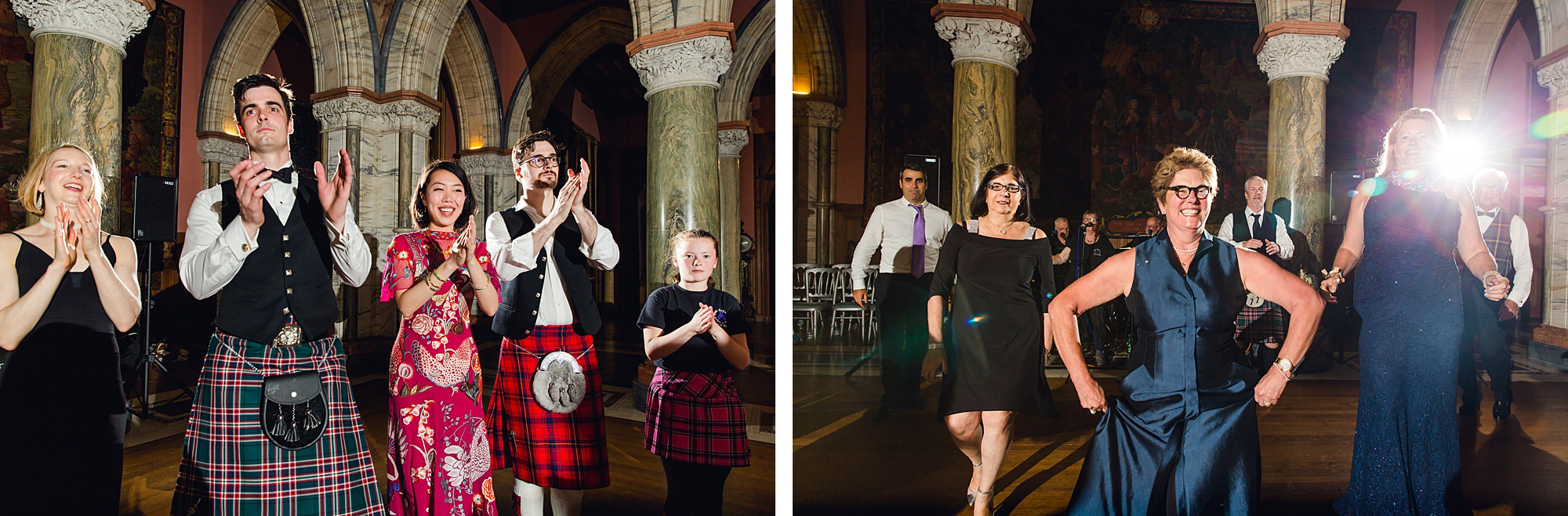 intimate wedding scotland guests ceilidh dancing