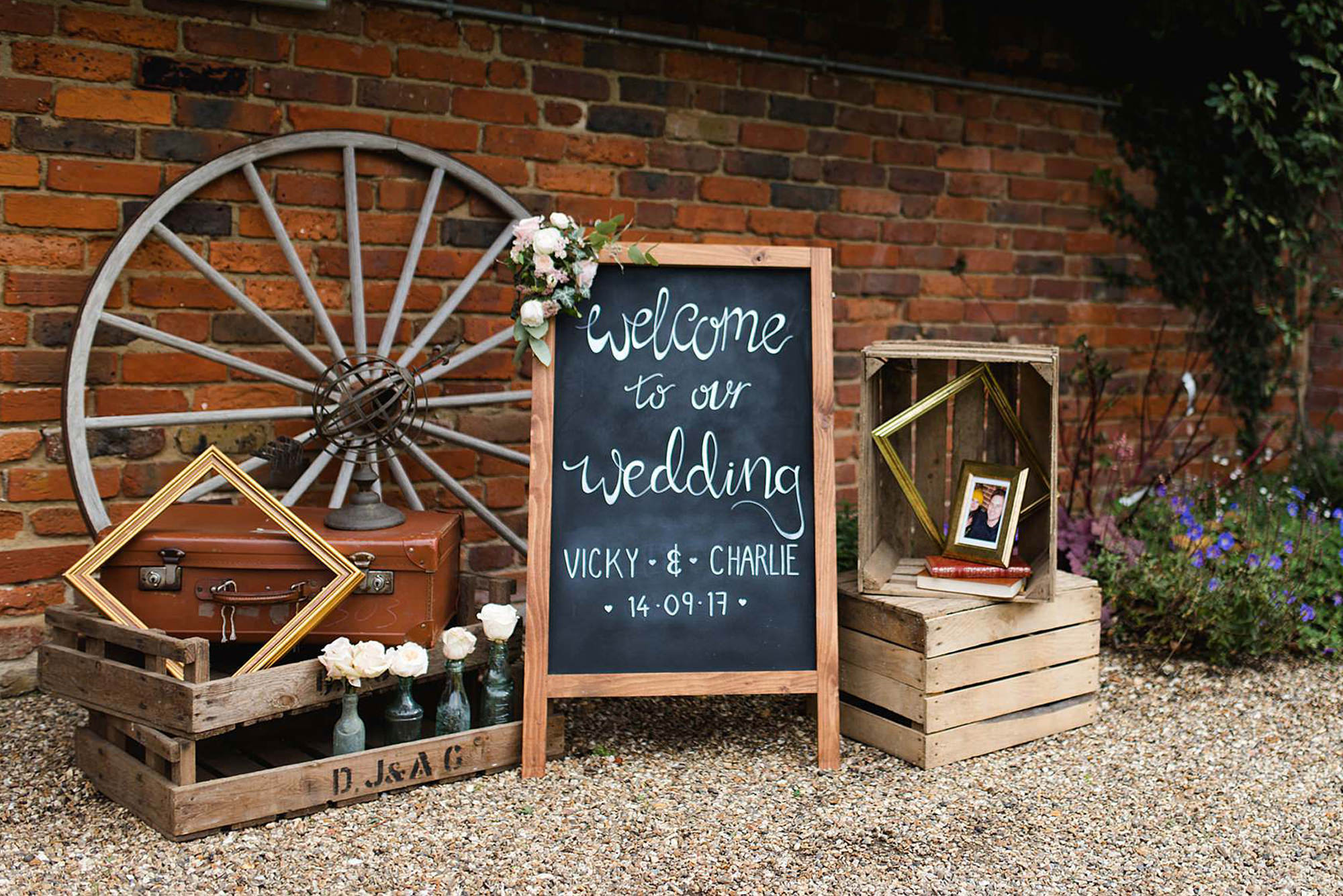 Lillibrooke Manor wedding welcome signs