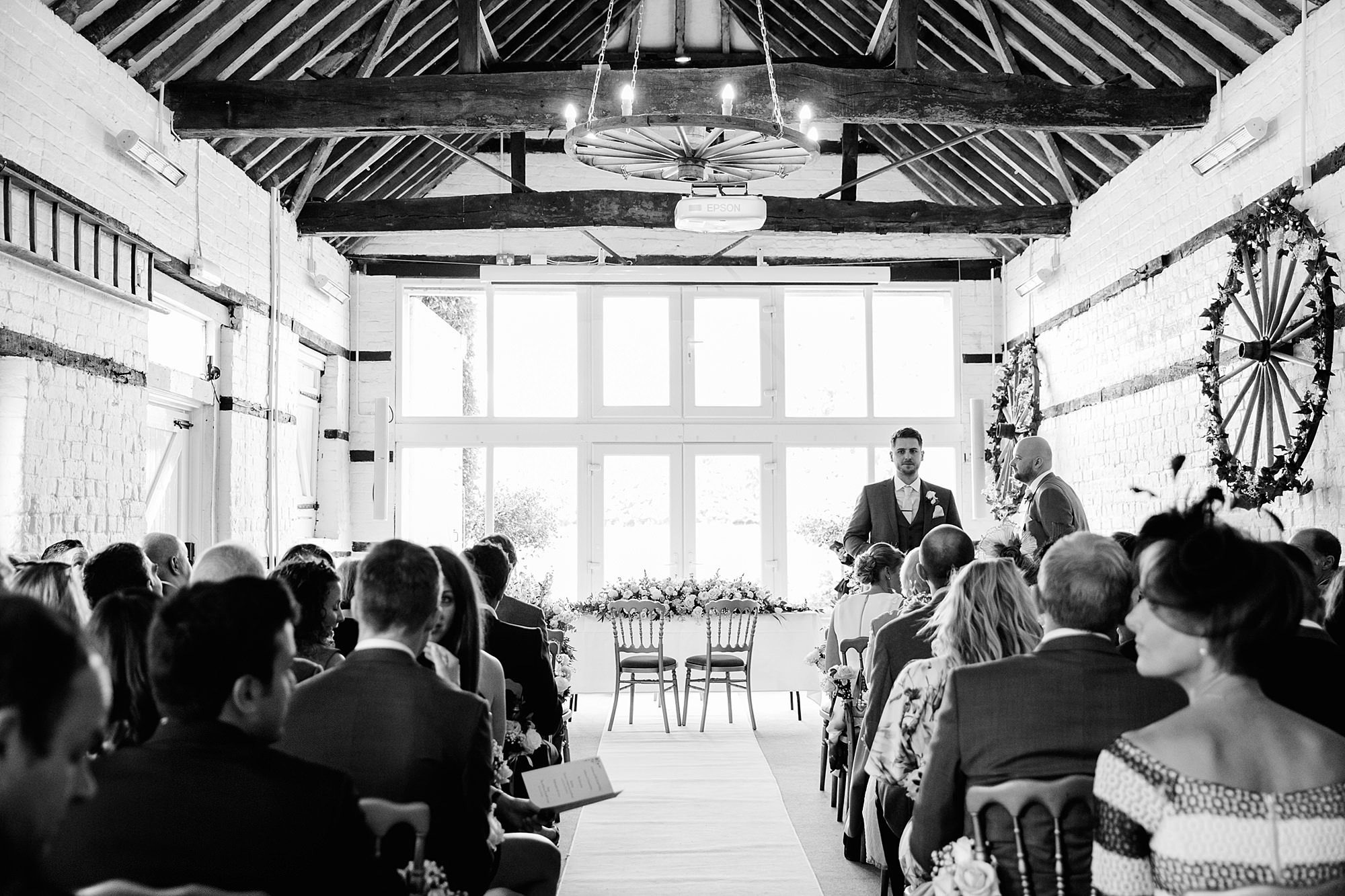 Lillibrooke Manor wedding groom and best man in ceremony room