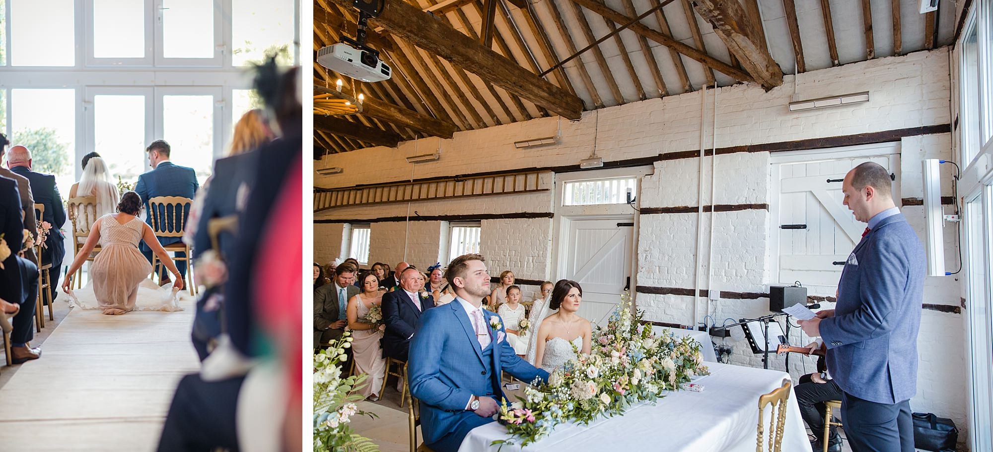 Lillibrooke Manor wedding ceremony