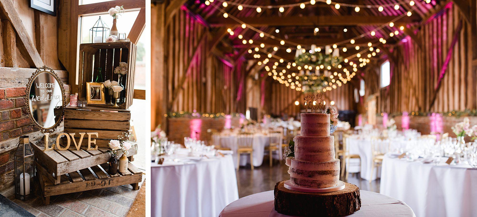 Lillibrooke Manor wedding decoration