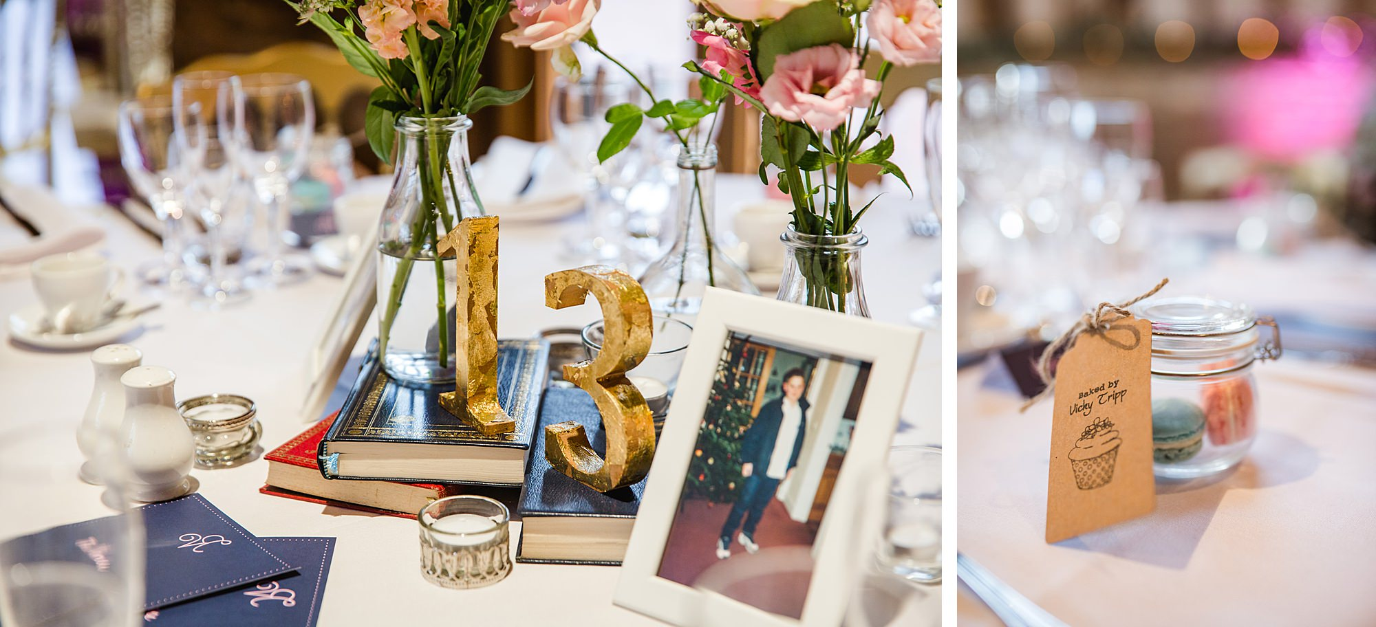 Lillibrooke Manor wedding age themed table numbers