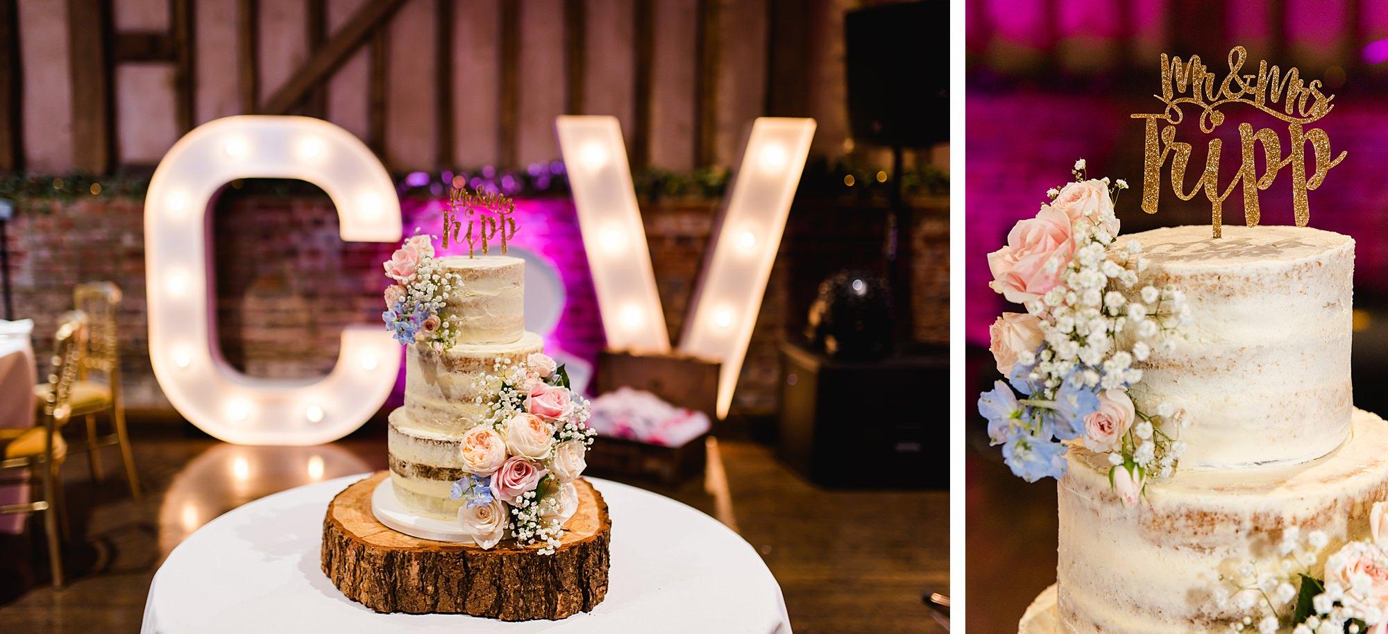 Lillibrooke Manor wedding cake