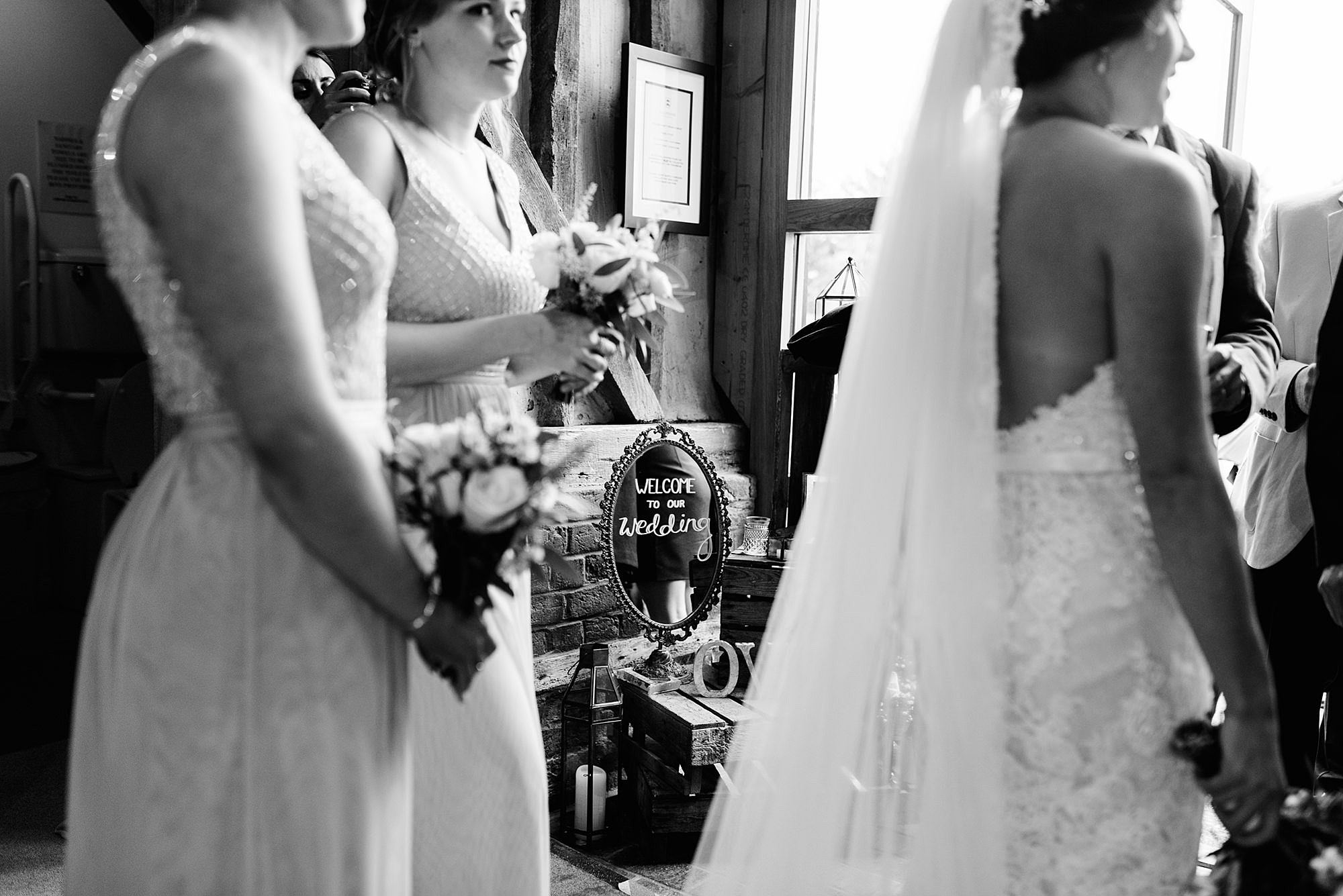Lillibrooke Manor wedding welcome sign