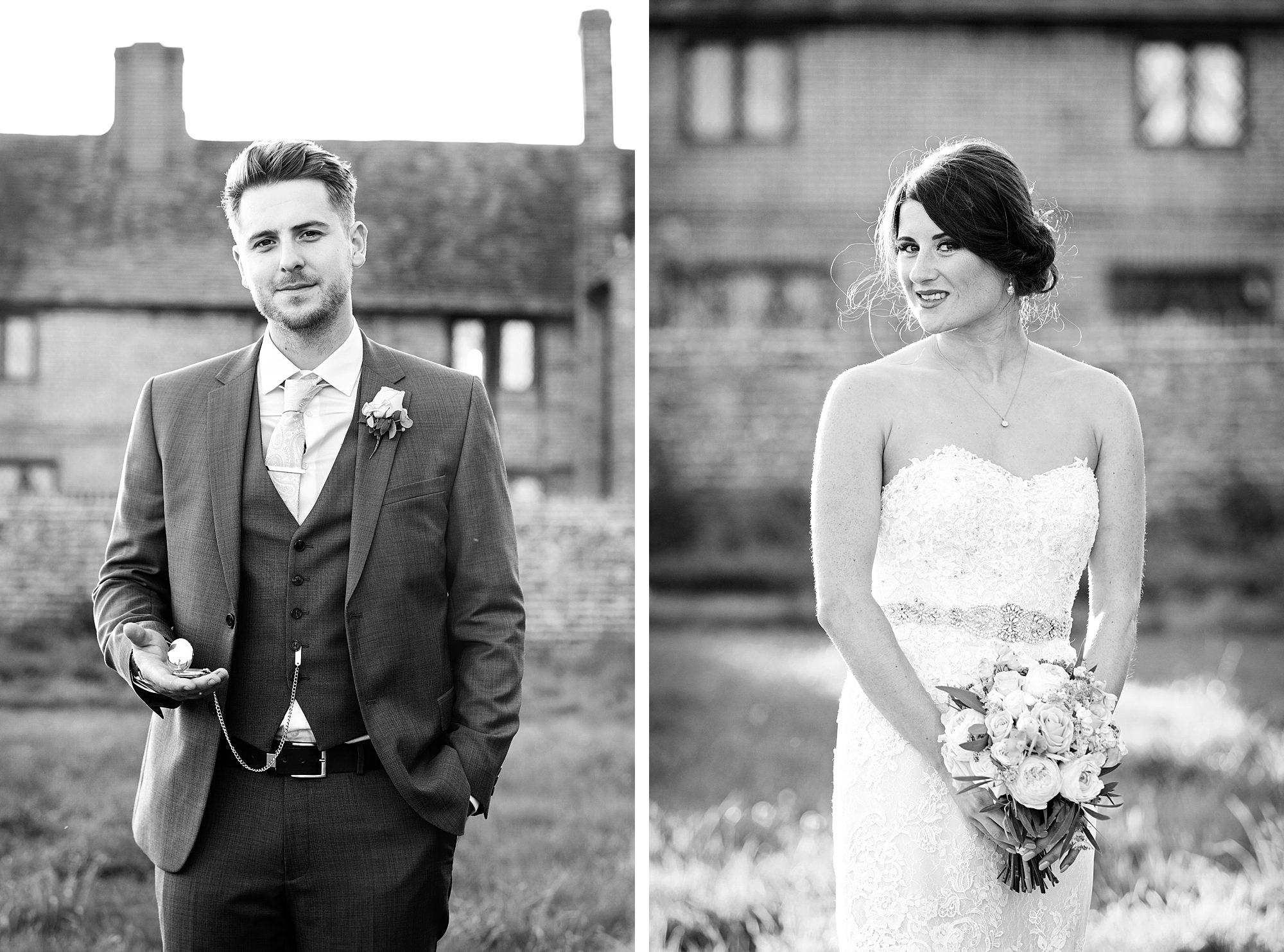 Lillibrooke Manor wedding portraits of bride and groom