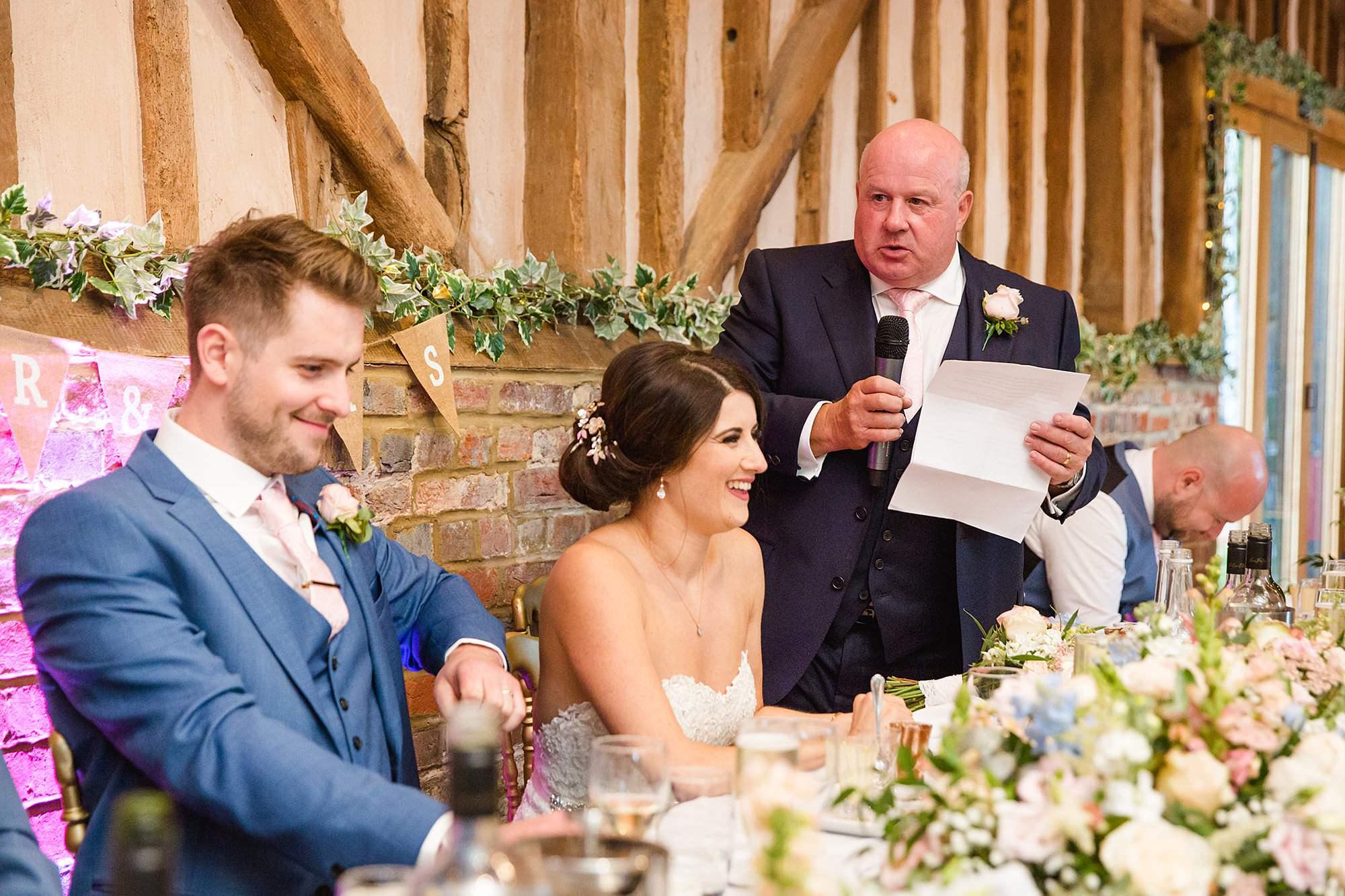 Lillibrooke Manor wedding father of bride speech