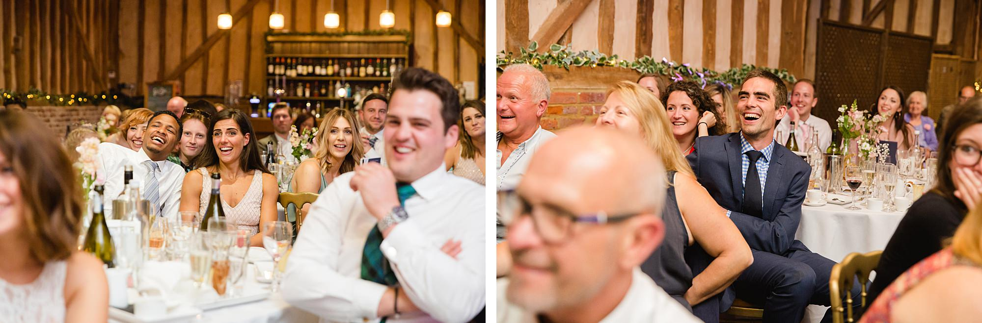 Lillibrooke Manor wedding guests laughing at best man's speech