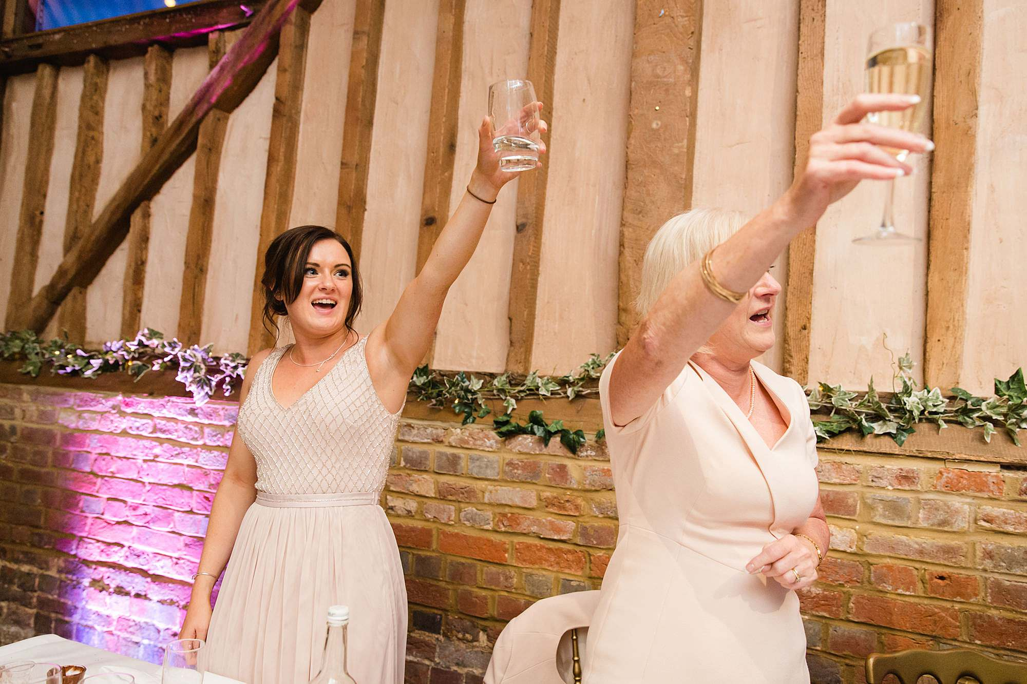 Lillibrooke Manor wedding guests toast