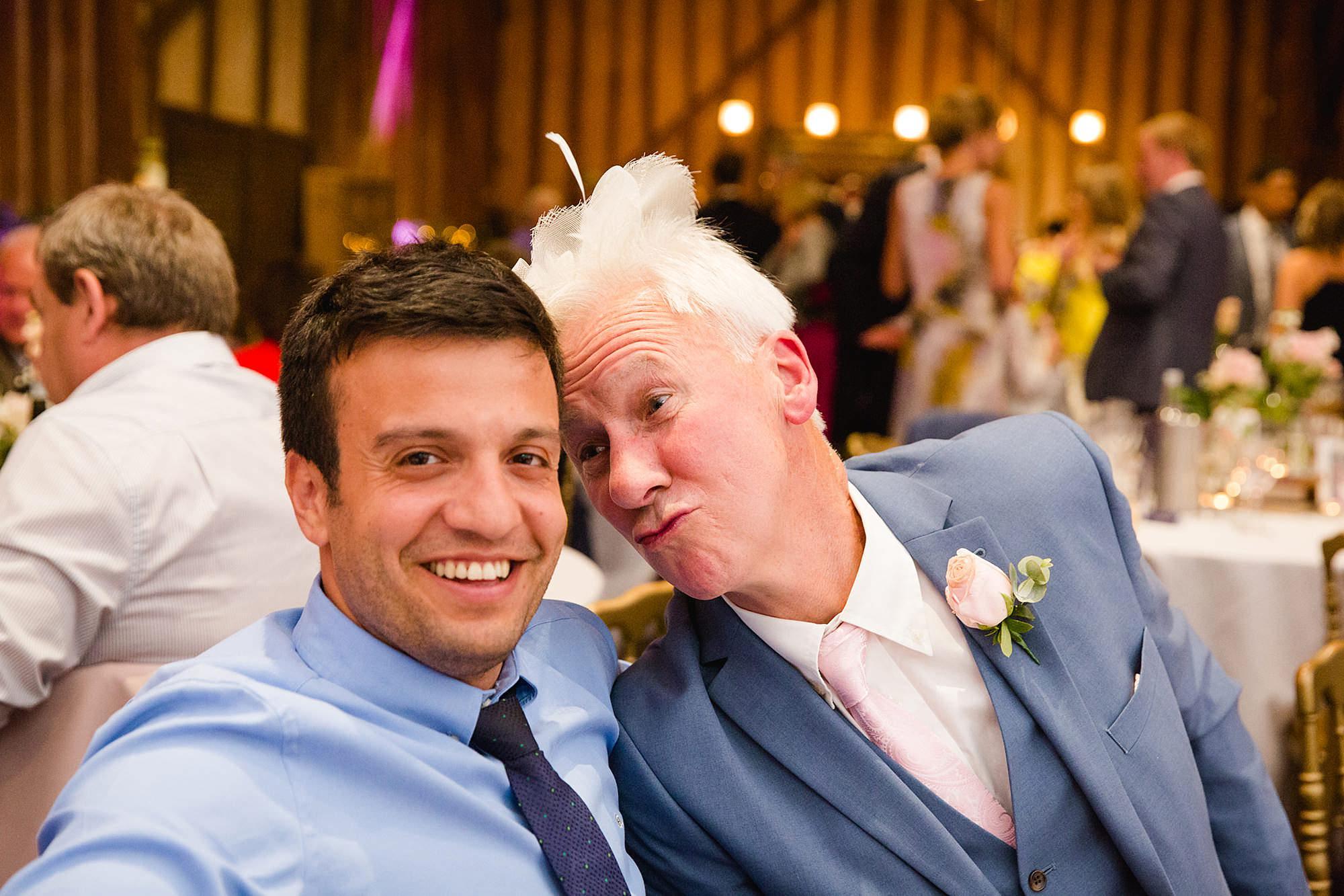 Lillibrooke Manor wedding fun y guest portrait