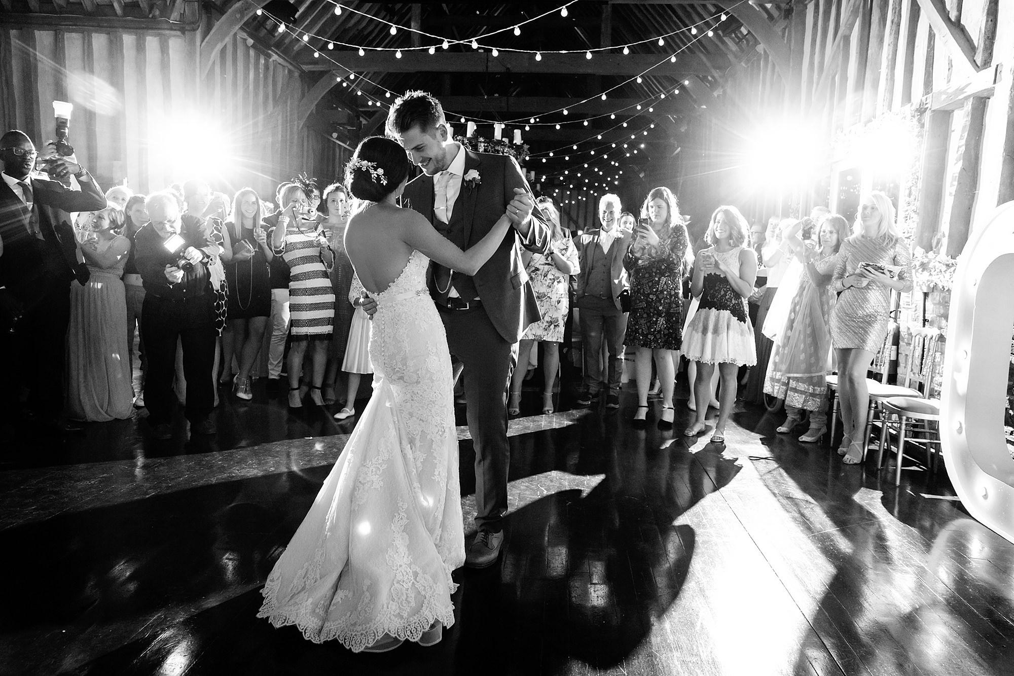 Lillibrooke Manor wedding bride and groom dance together