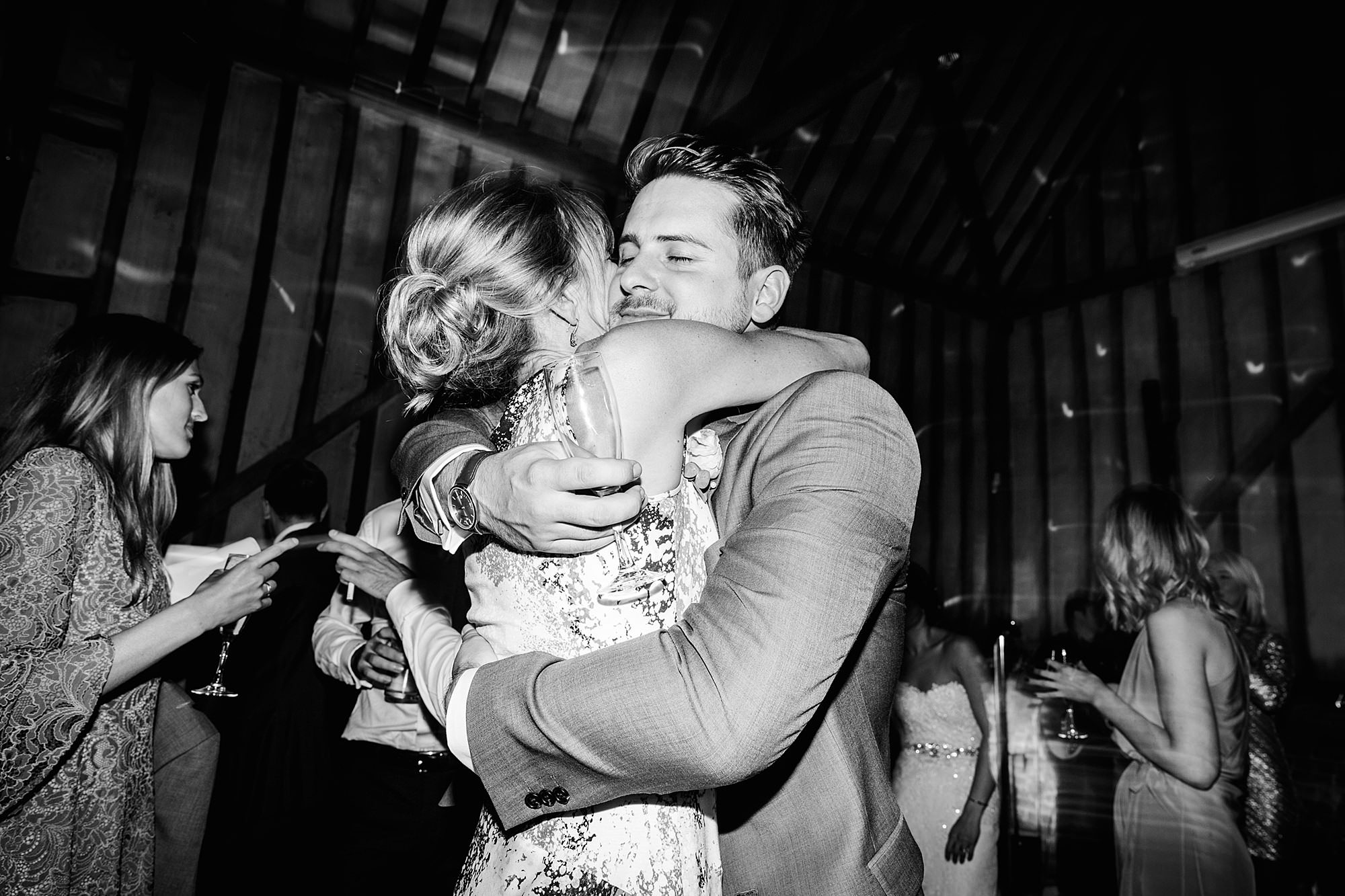 Lillibrooke Manor wedding groom hugs his mum