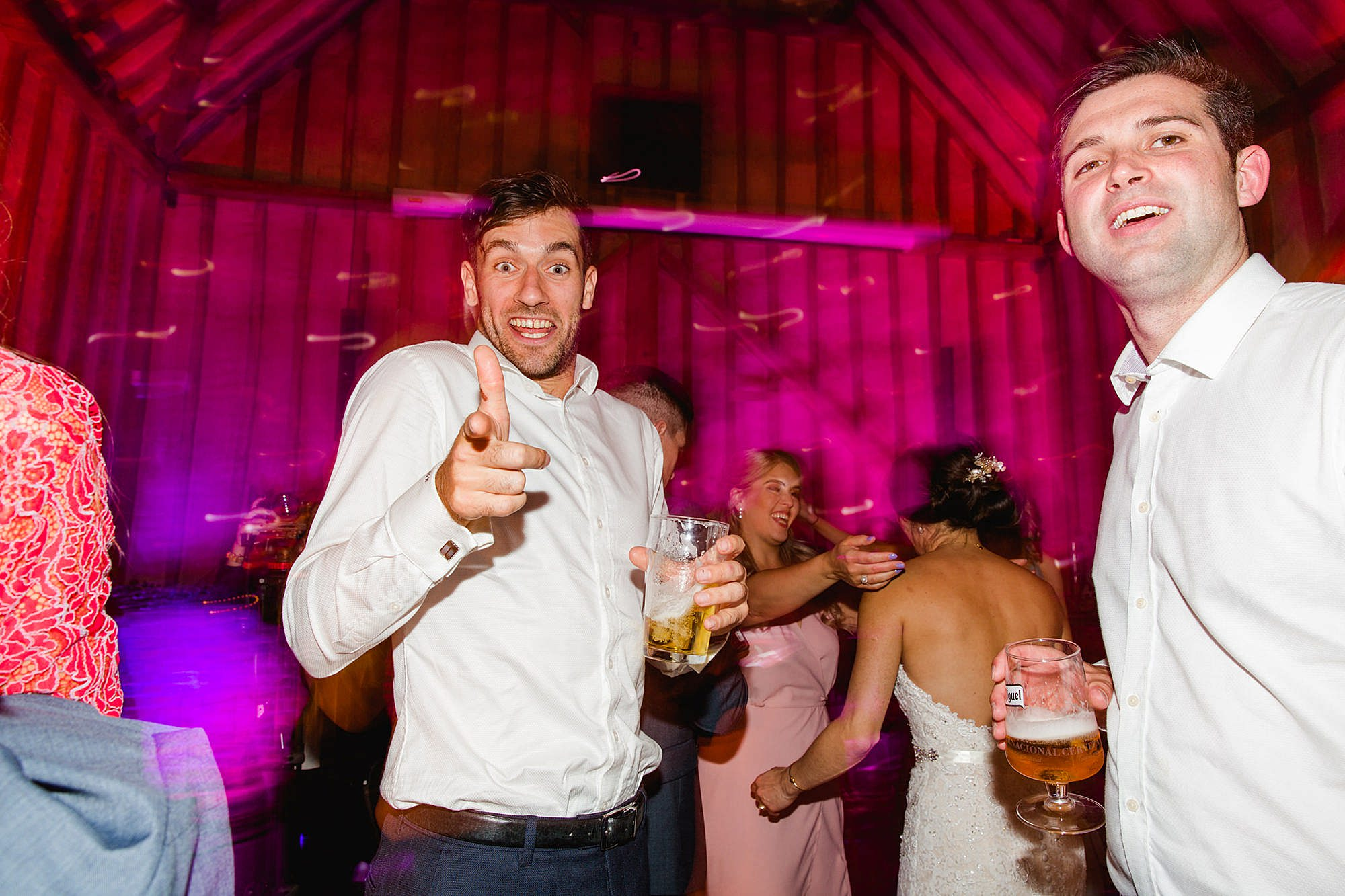 Lillibrooke Manor wedding fun guest dancing