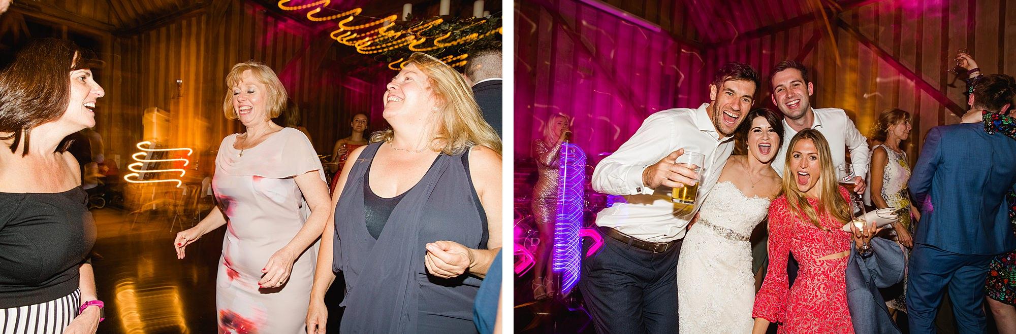 Lillibrooke Manor wedding dancing guests