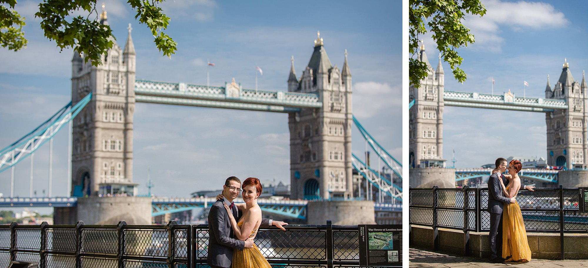 london engagement session at tower bridge