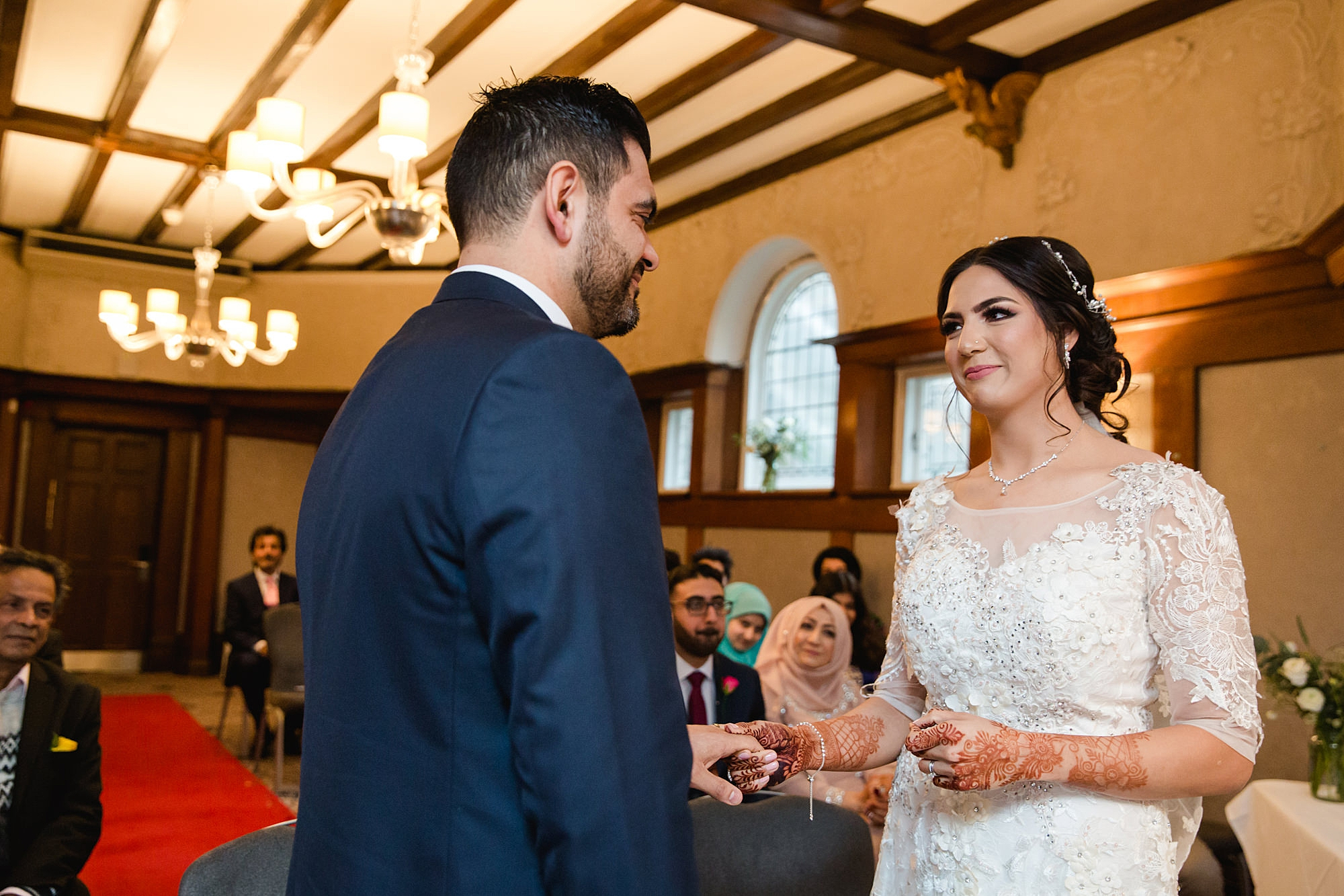 Richmond Hill Hotel wedding photography bride and groom exchange rings