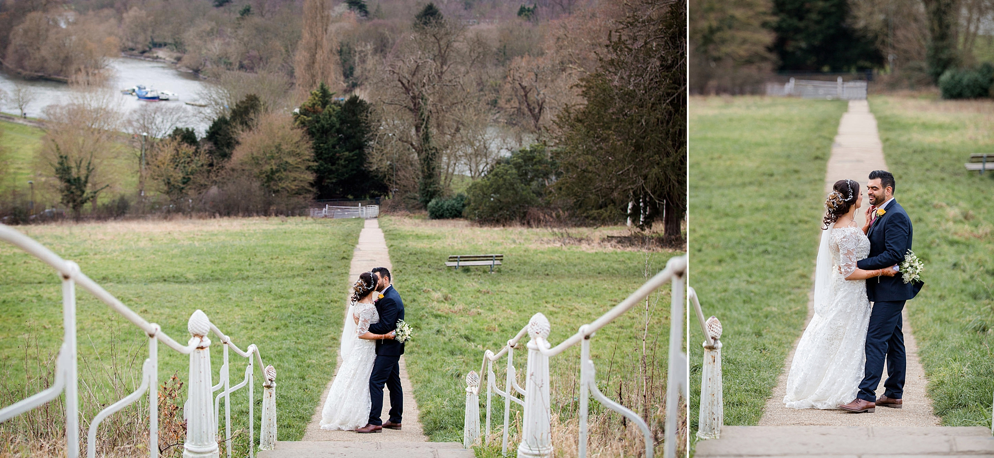 Richmond Hill Hotel wedding photography bride and groom