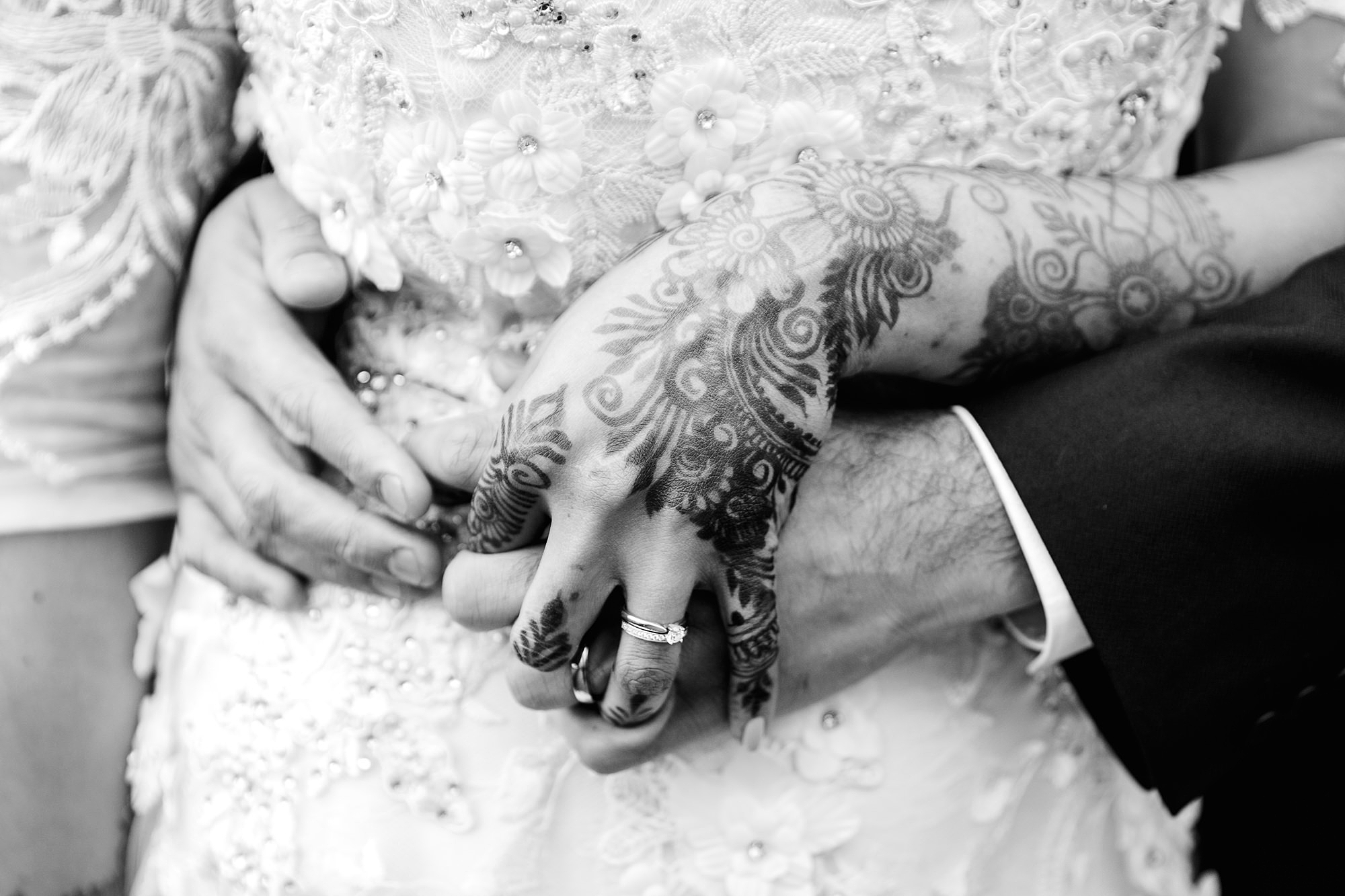 Richmond Hill Hotel wedding photography close up detail of bride's hand with henna