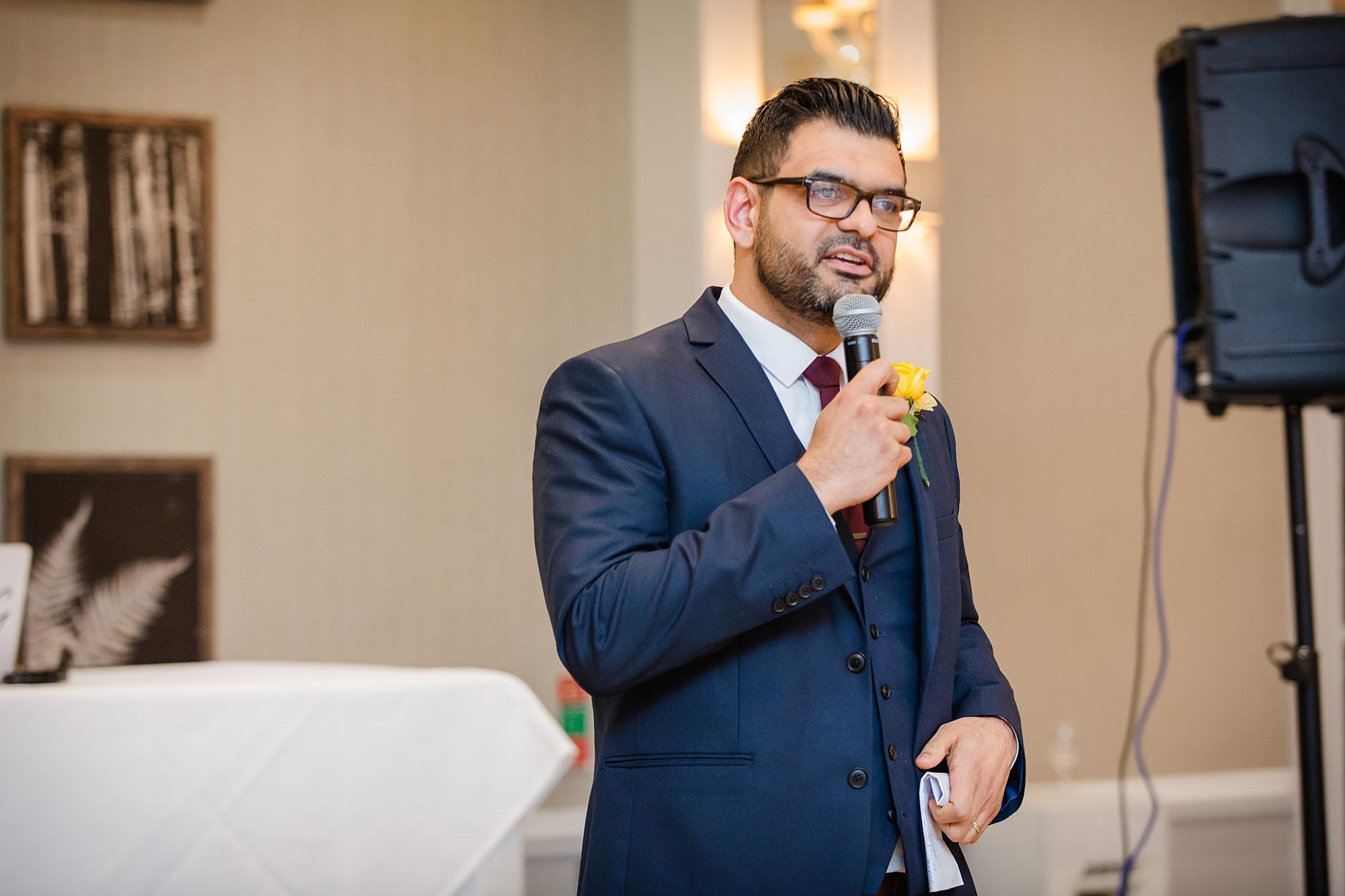 Richmond Hill Hotel wedding groom's speech