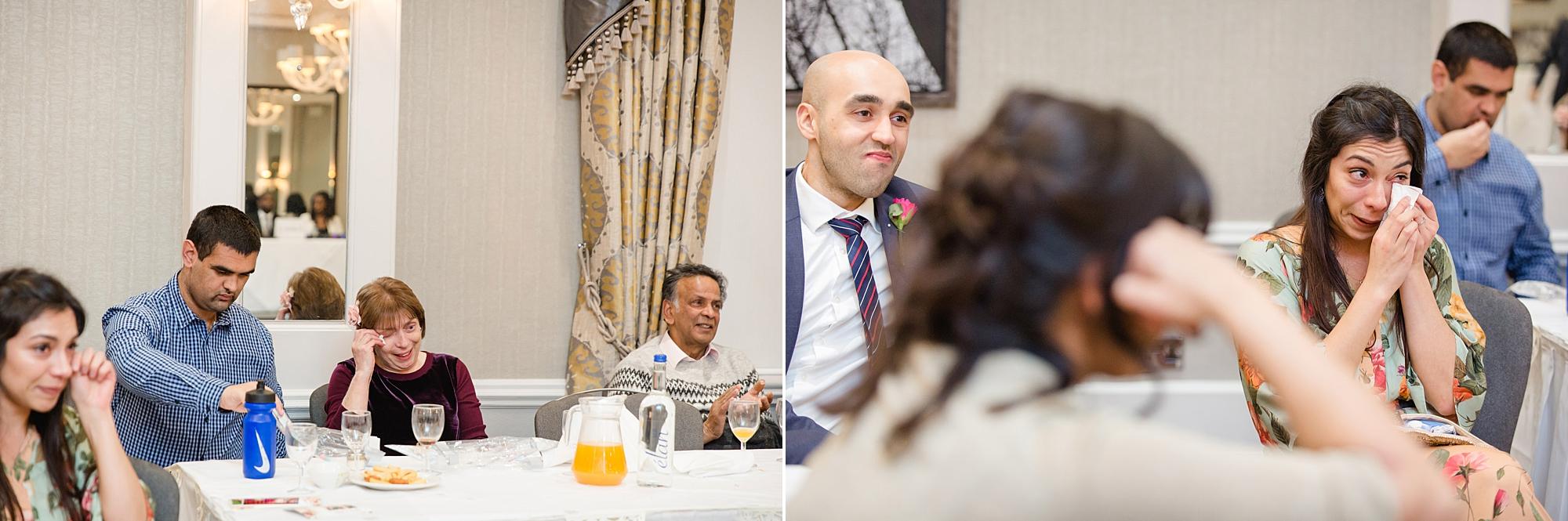 Richmond Hill Hotel wedding guests during speeches