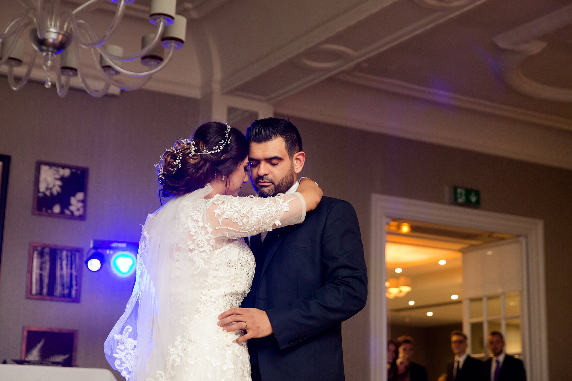 Richmond Hill Hotel wedding bride and groom dance together