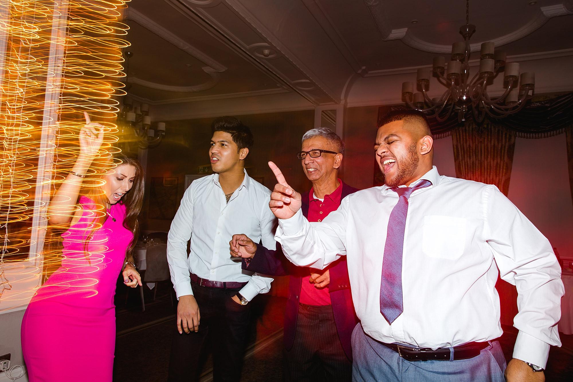 Richmond Hill Hotel wedding guests dancing