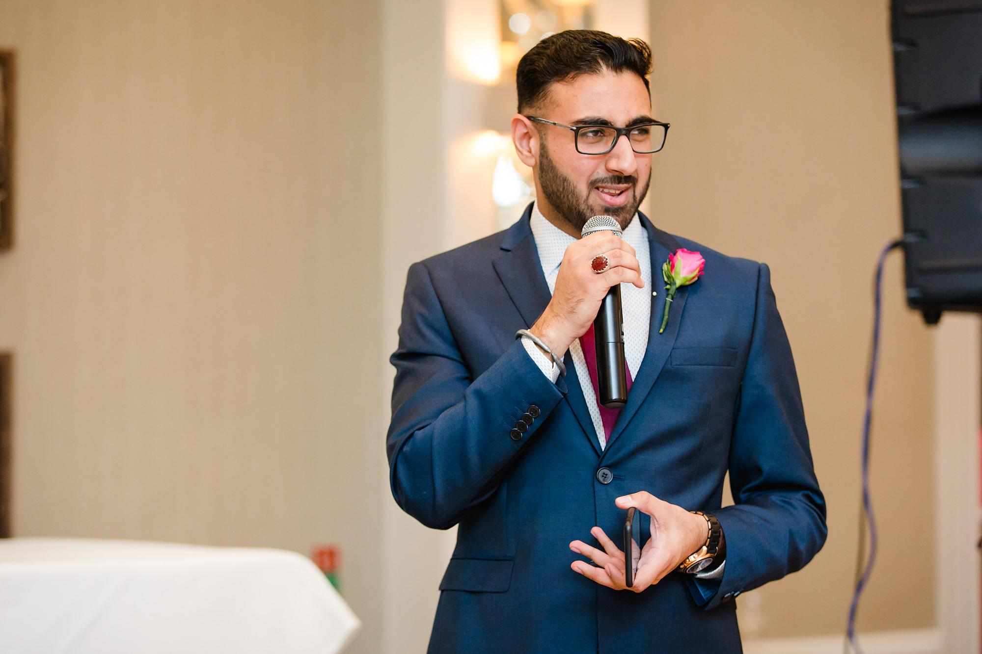 Richmond Hill Hotel wedding speeches