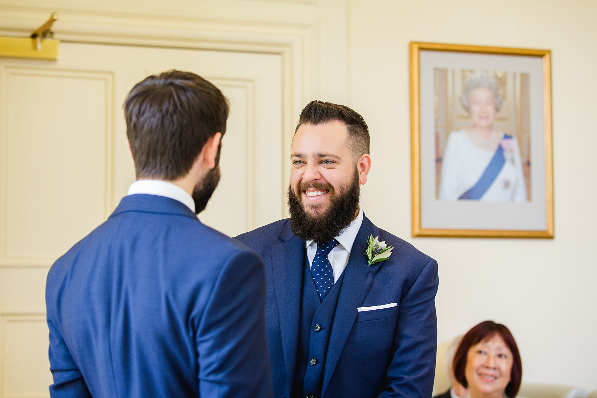shaw house wedding from and best man laugh together