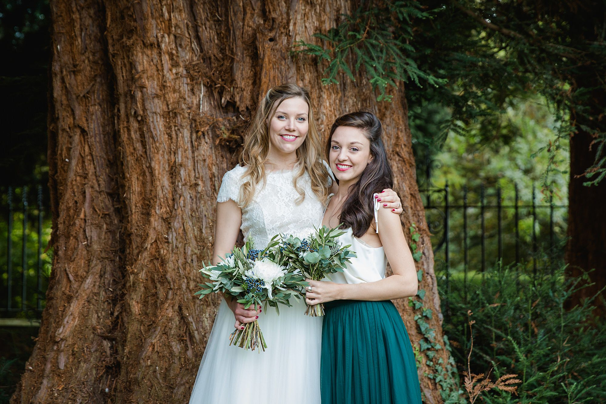 shaw house wedding bride and bridesmaid