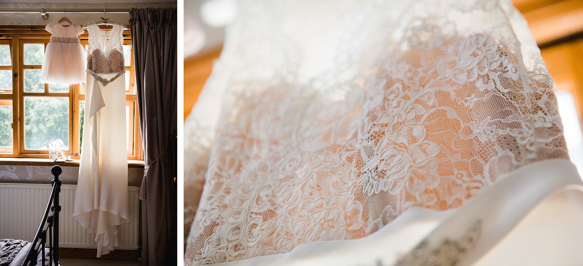 Writtle university college wedding bride's handmade dress
