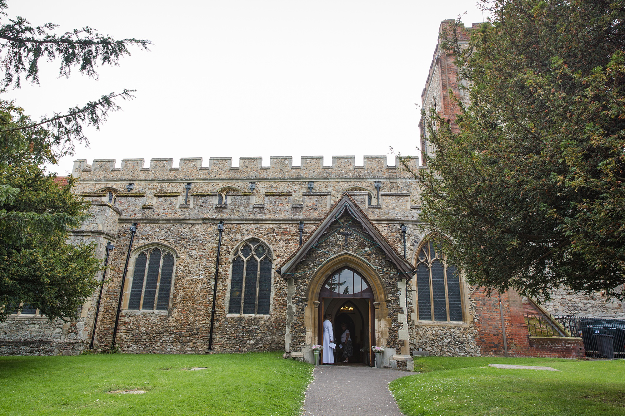 Writtle university college wedding church exterior