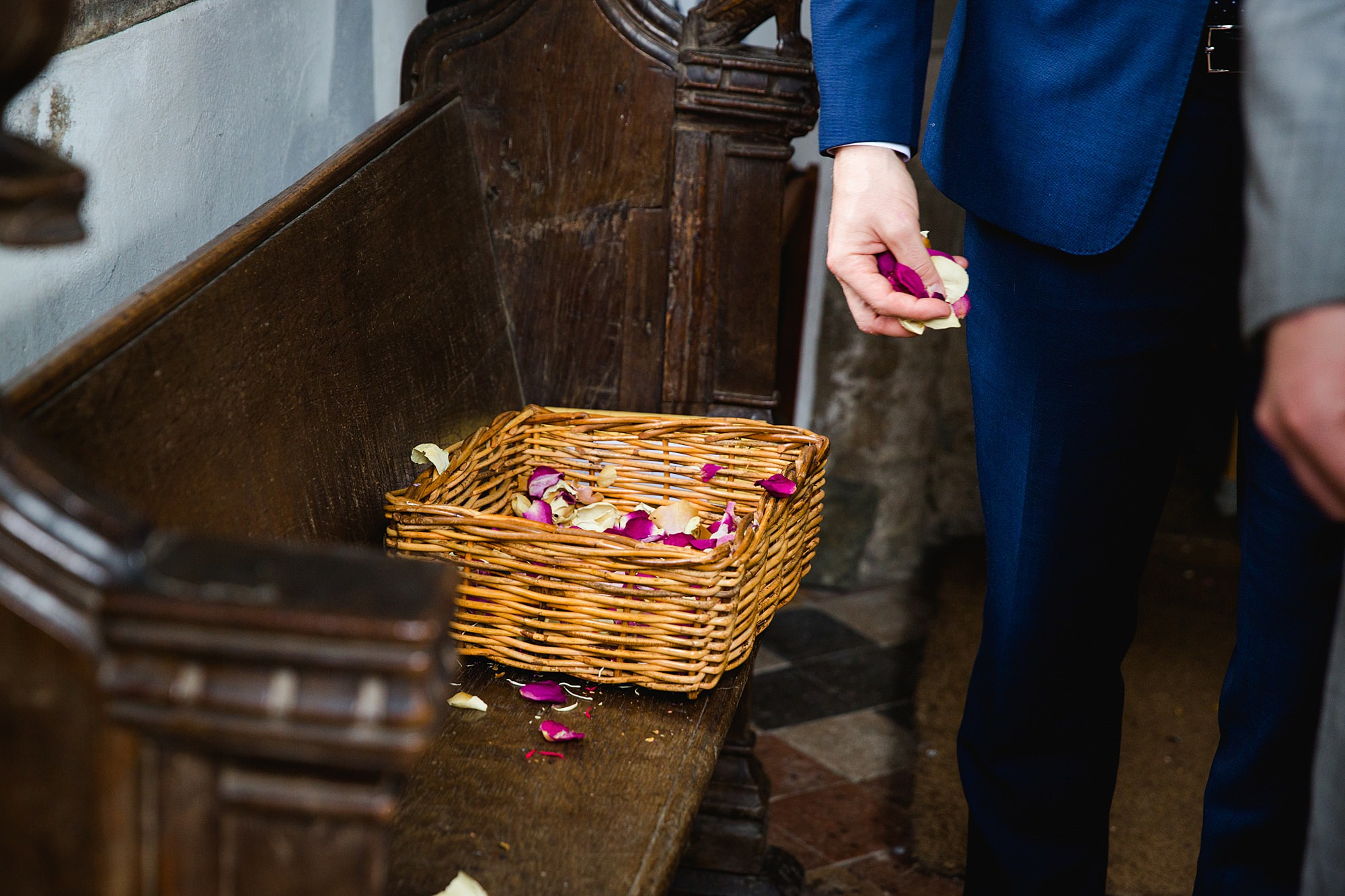 Writtle university college wedding a guest takes confetti