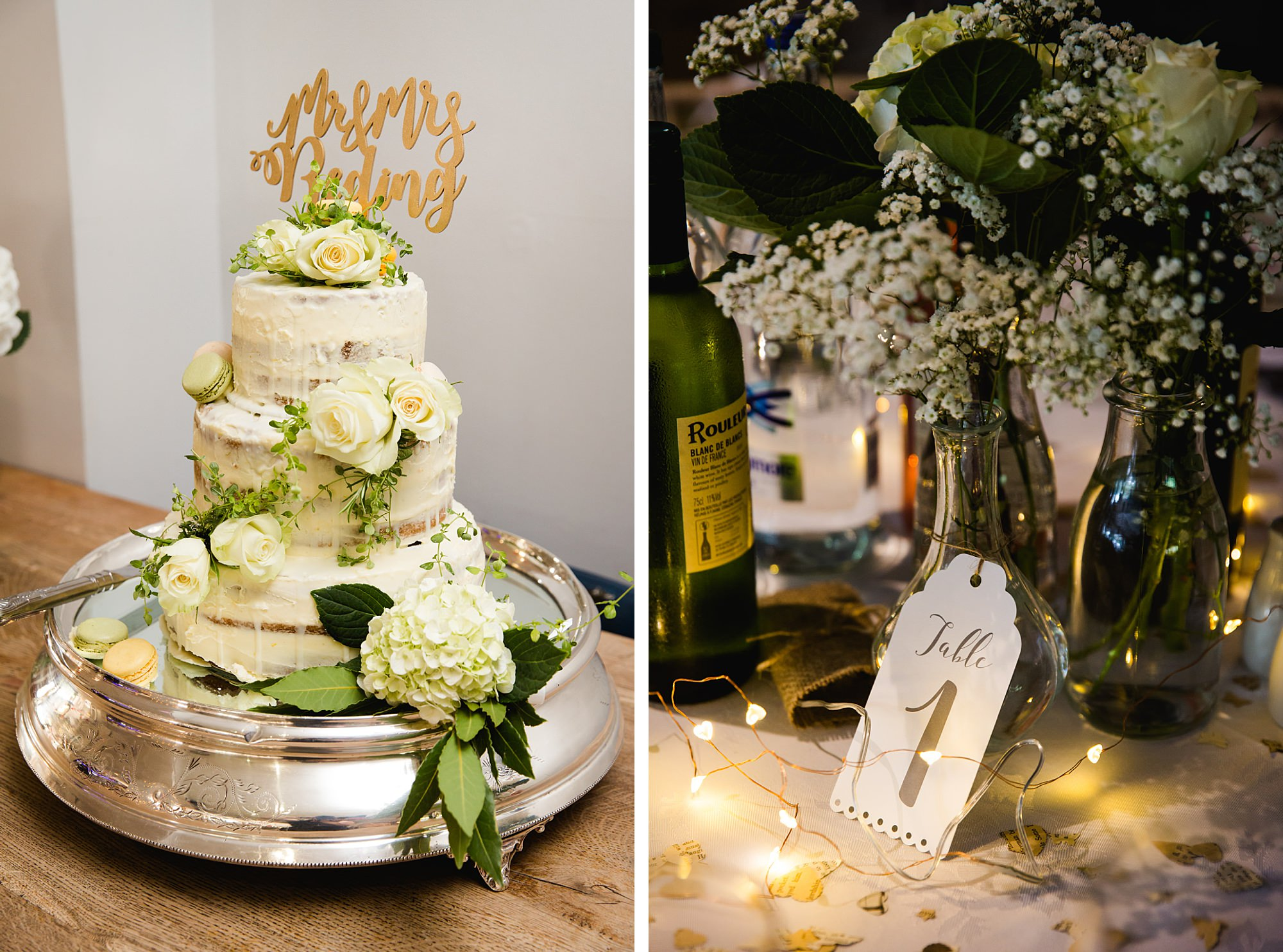 Writtle university college wedding cake and decorations