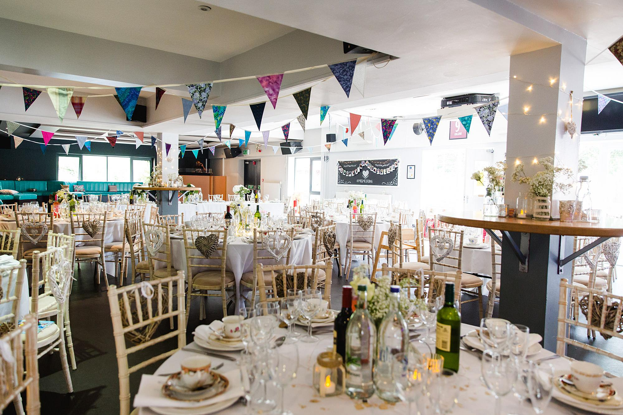 Writtle university college wedding decorated function form