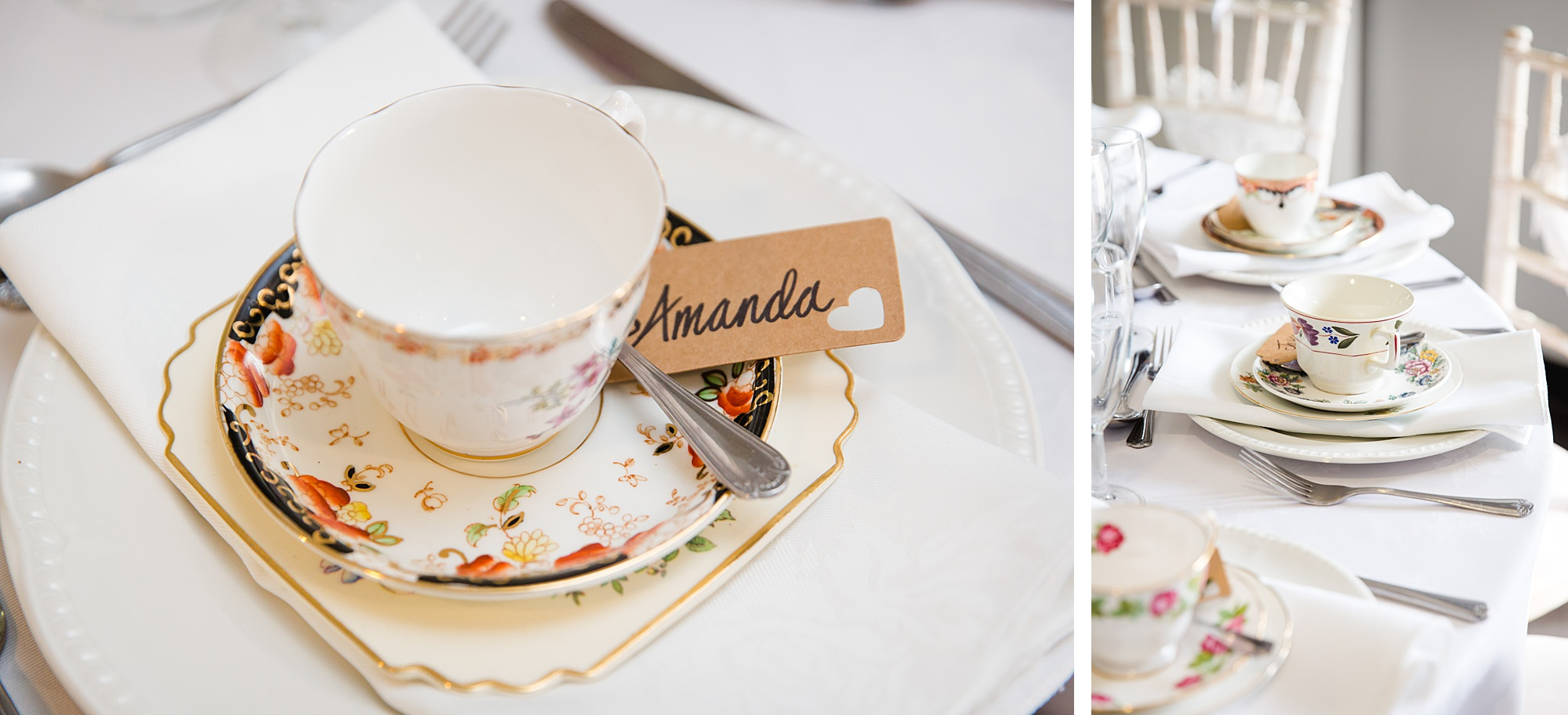 Writtle university college wedding teacup favours