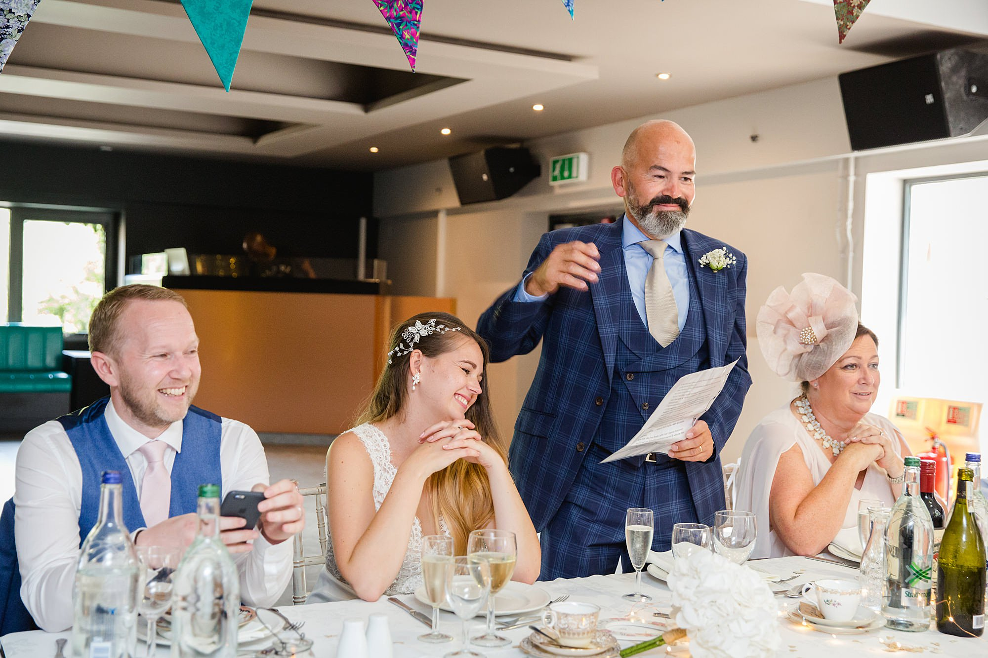 Writtle university college wedding father of bride makes speech