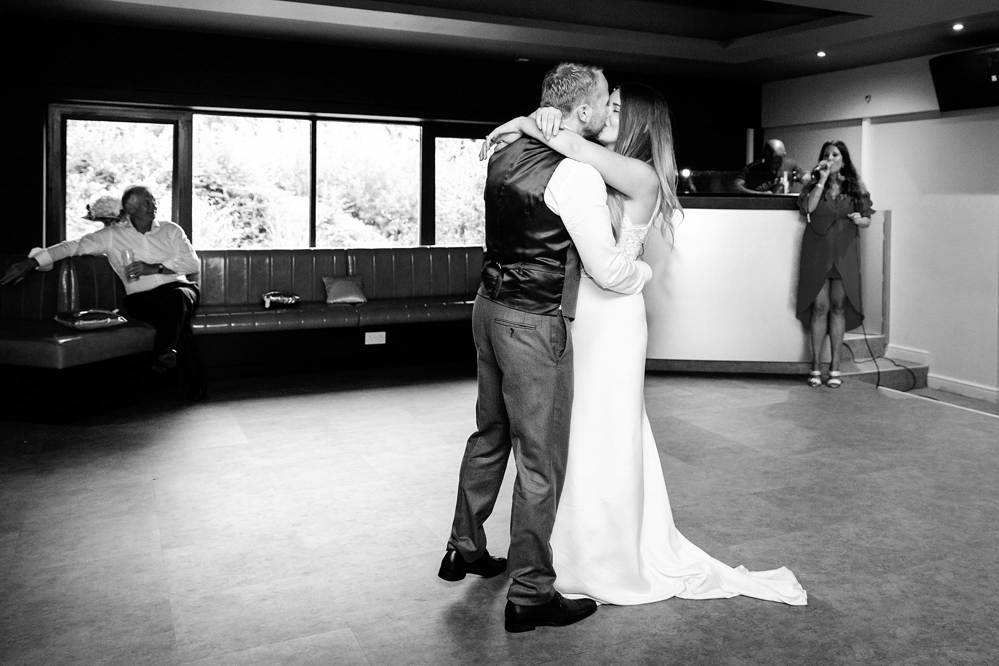 Writtle university college wedding bride and groom first dance