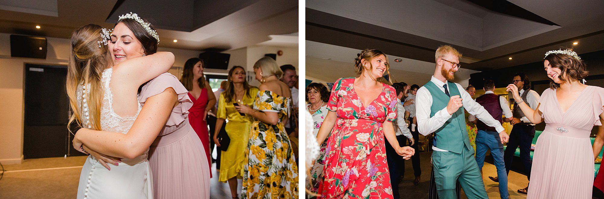 Writtle university college wedding guests dancing